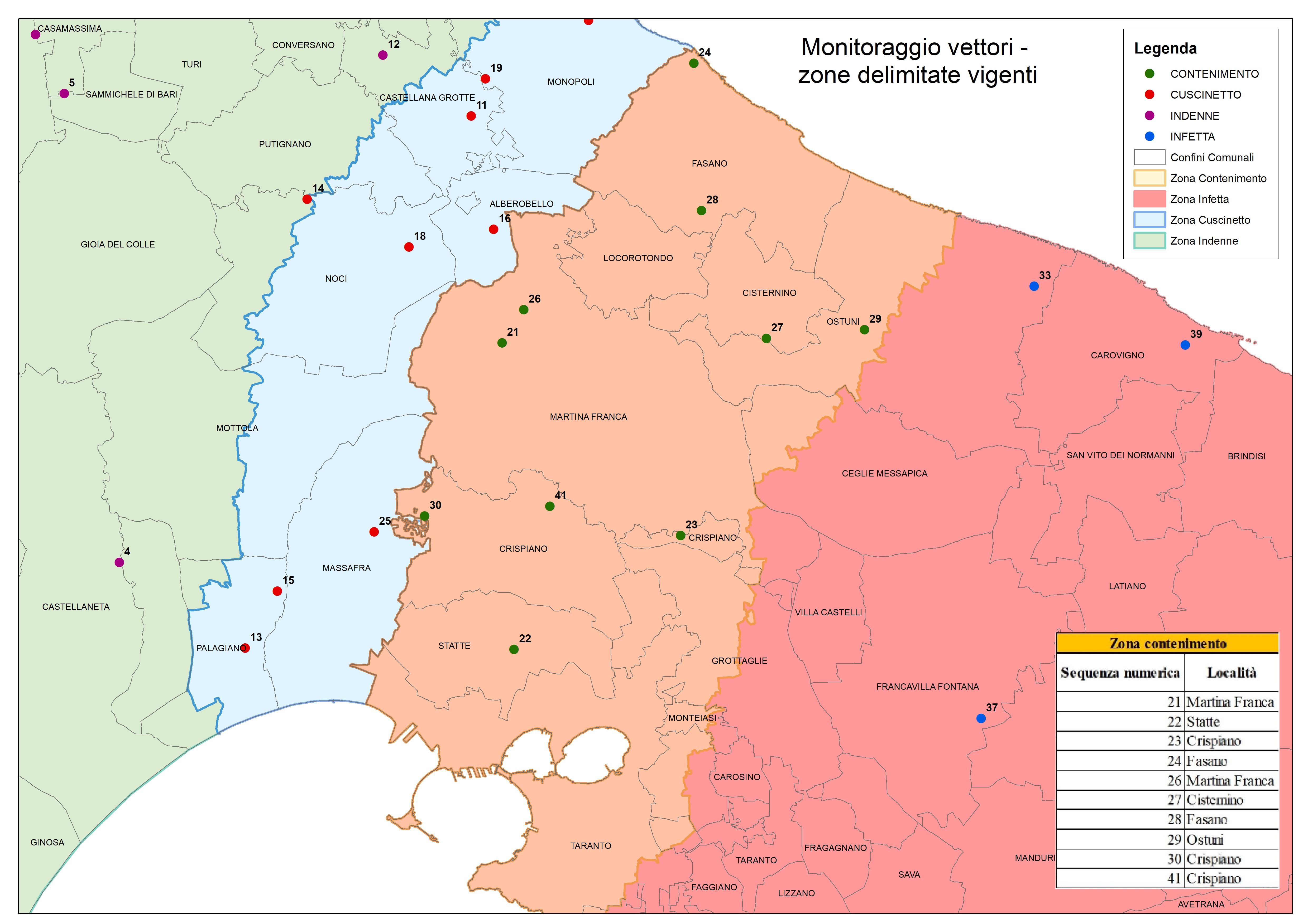 Mappa Xylella Puglia.Emergenza Xylella Sito Ufficiale Regione Puglia